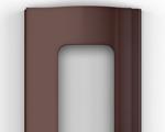 Для изготовления рольворот компания DoorHan предлагает 3 вида профилей – пенозаполненные неперфорированные, экструдированные сплошные и экструдированные с окошками. DoorHan (Дорхан) - Экструдированный профиль с окошками коричневый (RAL 8014)
