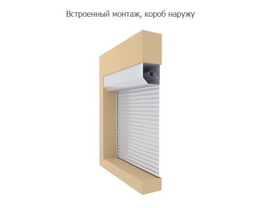 Технические характеристики и размеры DoorHan (Дорхан) - Встроенный монтаж, короб внутрь