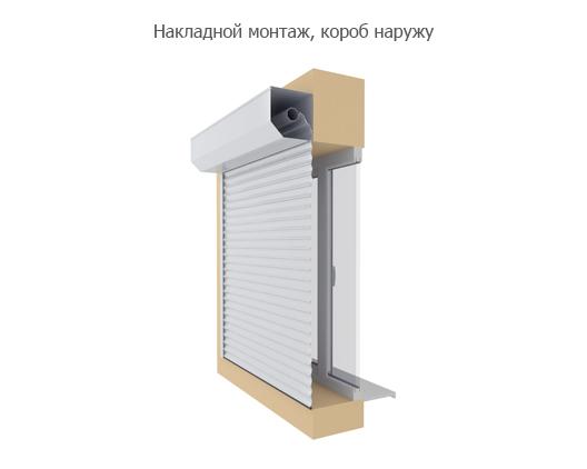 Технические характеристики и размеры DoorHan (Дорхан) - Встроенный монтаж, короб наружу